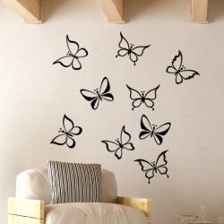 Sticker divers variétés de papillons