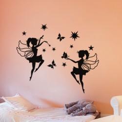 Sticker fées, étoiles et papillons