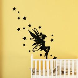 Sticker petite fée et des étoiles