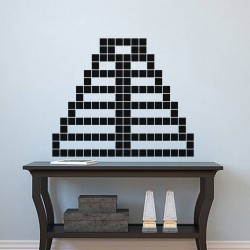 Sticker pyramide en briques