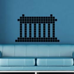 Sticker colonnes en briques
