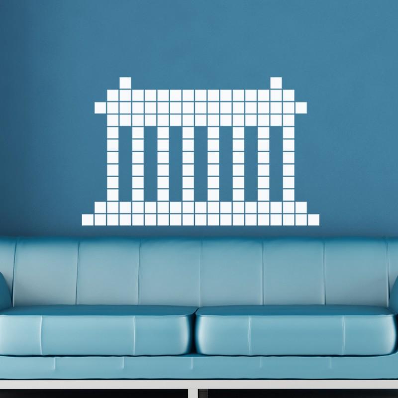 sticker colonnes en briques pas cher stickers enfants discount stickers muraux madeco stickers. Black Bedroom Furniture Sets. Home Design Ideas
