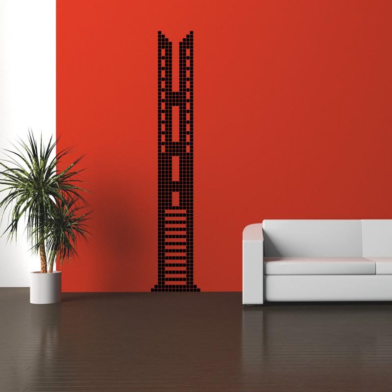 sticker tower bridge en briques pas cher stickers enfants discount stickers muraux madeco. Black Bedroom Furniture Sets. Home Design Ideas
