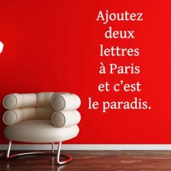 Sticker Ajoutez deux lettres à Paris