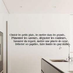 Sticker citation Les petits plats