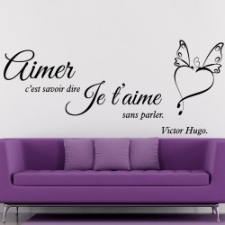 Sticker citation aimer selon Victor Hugo