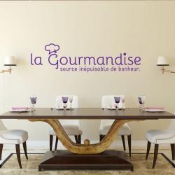 Sticker La gourmandise, source de bonheur