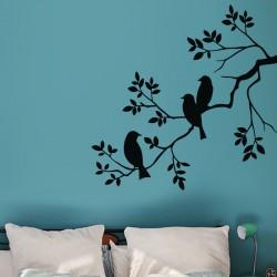 Sticker 3 colibris sur une branche