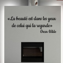 Sticker La bauté – Oscar Wilde