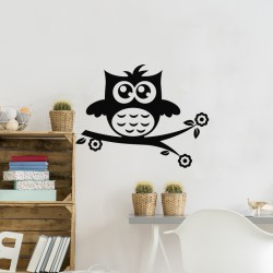 Sticker petiit hibou amusant