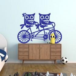 Sticker hiboux à vélos