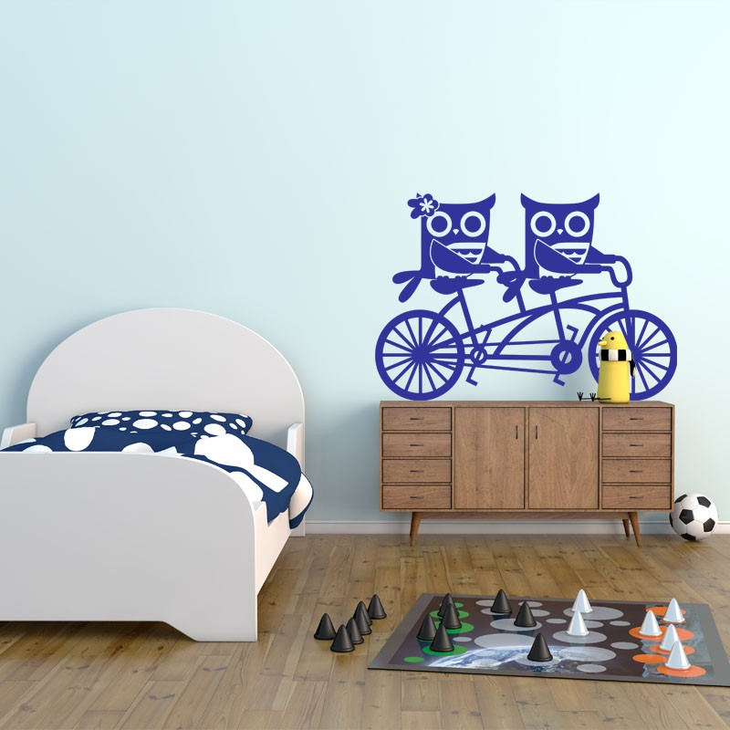 sticker hiboux v los pas cher stickers enfants discount stickers muraux madeco stickers. Black Bedroom Furniture Sets. Home Design Ideas
