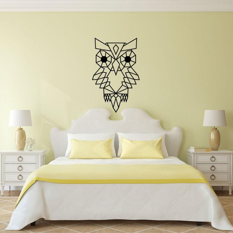 sticker hibou en origami pas cher stickers enfants discount stickers muraux madeco stickers. Black Bedroom Furniture Sets. Home Design Ideas