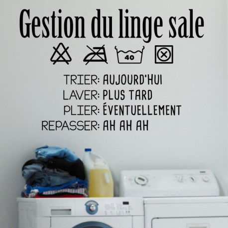 Sticker gestion du linge sale