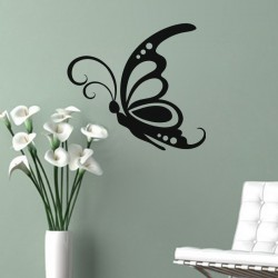 Sticker silhouette d'un papillon