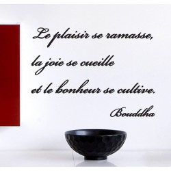 Sticker citation Le bonheur se cultive