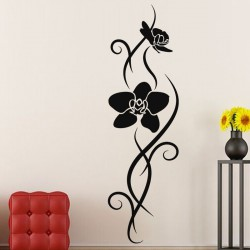Sticker Orchidées enlacées