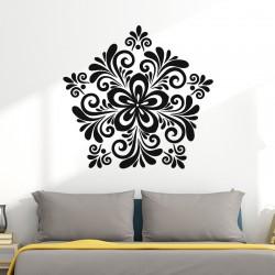 Sticker Fleur déco baroque