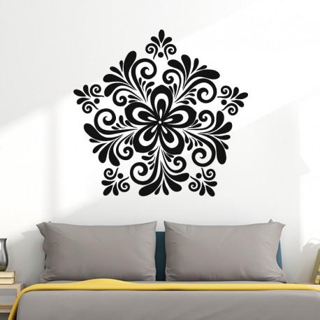 Tete de lit stickers baroque top t te de lit en teck vente tetes de lit gentong chez tikamoon - Decor discount montelimar ...