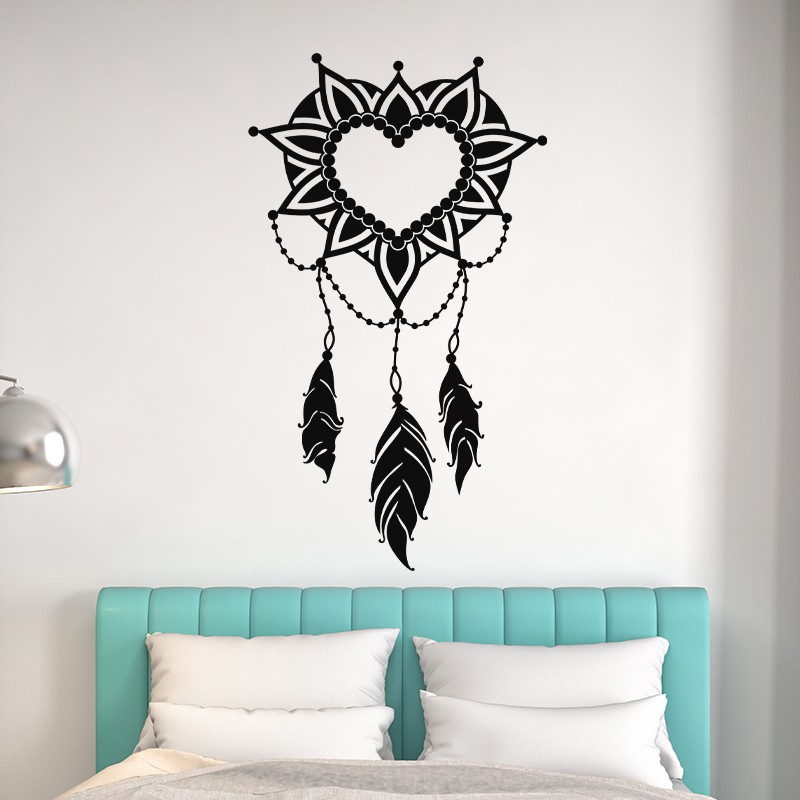sticker attrape coeur design coeur symbolique pas cher stickers ethniques discount stickers. Black Bedroom Furniture Sets. Home Design Ideas