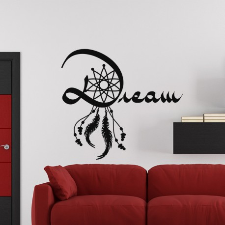 sticker attrape r ves design dream pas cher stickers. Black Bedroom Furniture Sets. Home Design Ideas