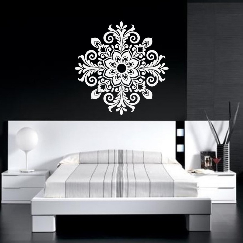 sticker d co baroque style fleur pas cher stickers baroque discount stickers muraux madeco. Black Bedroom Furniture Sets. Home Design Ideas