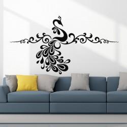 Sticker mural plante en forme d'oiseaux