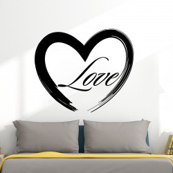 Sticker mural love in heart