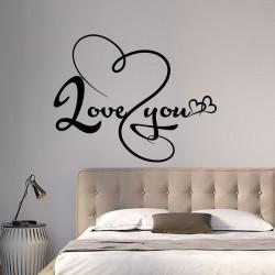 Sticker mural Love You
