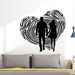 Sticker mural ballade en amoureux