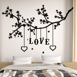 Sticker mural design love