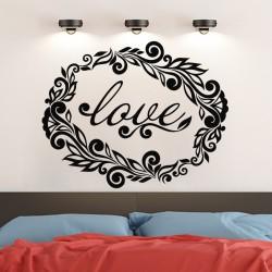 Sticker mural déco love