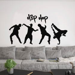 Sticker mural design hip hop