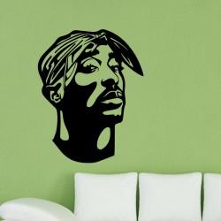 Sticker mural Tupac Shakur