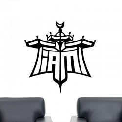 Sticker mural symbole Will.i.am