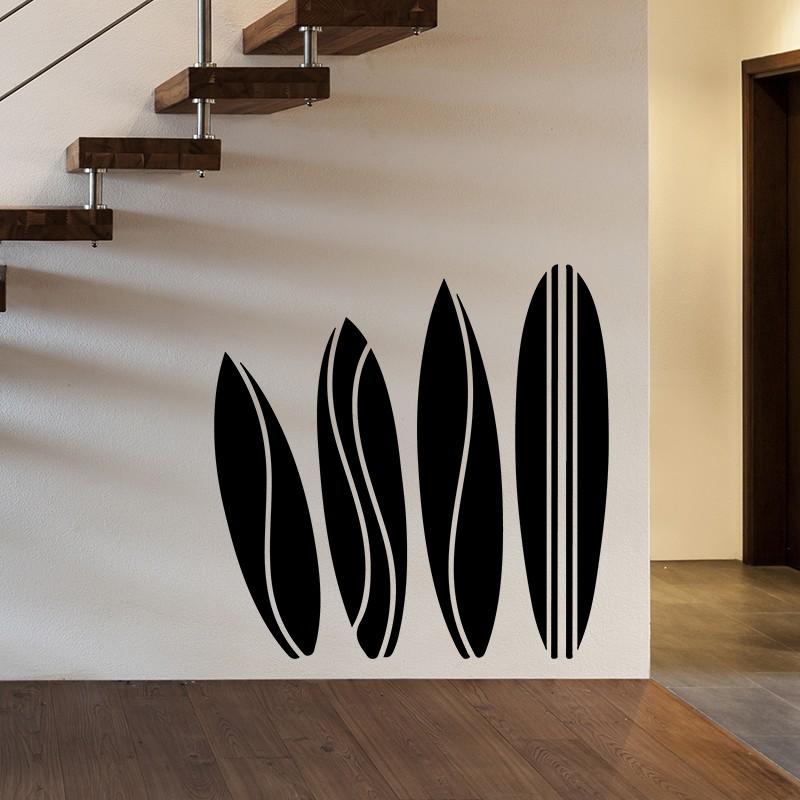 sticker ethnique design planche de surf pas cher. Black Bedroom Furniture Sets. Home Design Ideas