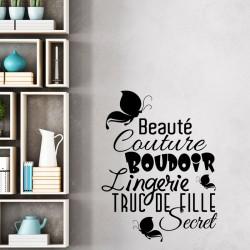 Sticker Beauté, couture, boudoir