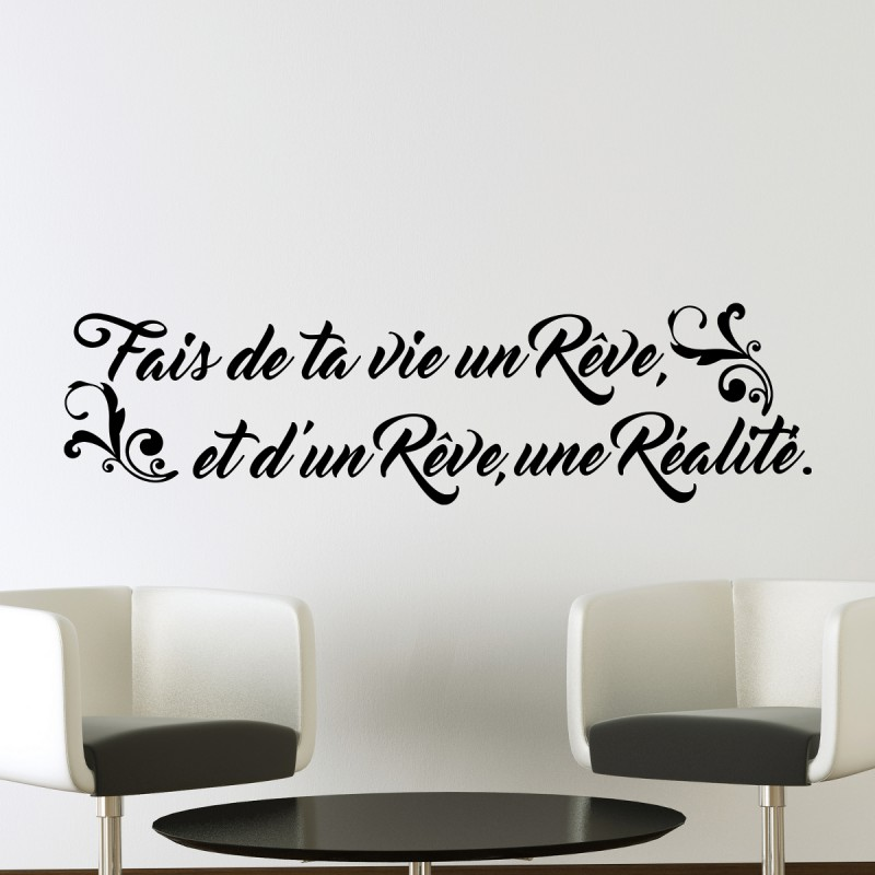 stickers muraux citations pas cher 28 images sticker. Black Bedroom Furniture Sets. Home Design Ideas