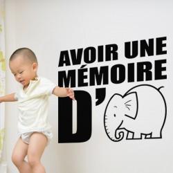 Sticker Avoir une mémoire d'éléphant
