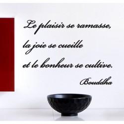 """Sticker citation """"Le bonheur se cultive"""""""