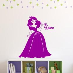 Sticker prénom personnalisable Belle princesse