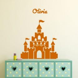 Sticker prénom personnalisable  Château géant
