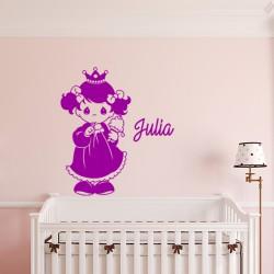 Sticker prénom personnalisable Princesse gourmande