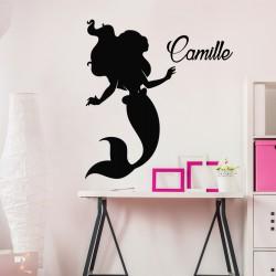 Sticker prénom personnalisable Petite sirène