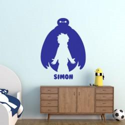 Sticker prénom personnalisable garçon et robot