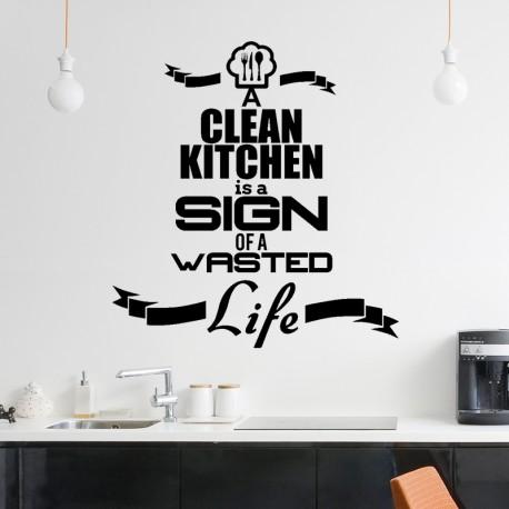 Sticker A clean kitchen