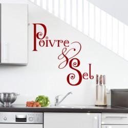 Sticker cuisine Poivre & sel