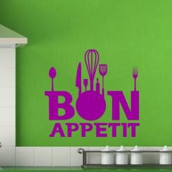 Sticker cuisine Accessoires cuisine bon appetit