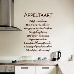 Sticker cuisine Appel taart