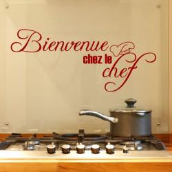Sticker cuisine Bienvenue chez le chef